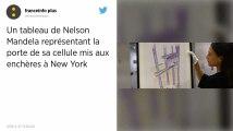 Un tableau signé Nelson Mandela mis aux enchères à New York