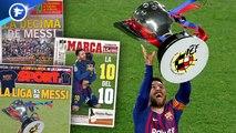 Toute l'Espagne s'agenouille devant Messi et sa dixième Liga, la presse italienne encense un CR7 historique