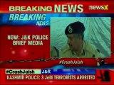 Jammu and Kashmir Police Press Conference after arresting 3 Jaish-e-Mohammed Terrorists