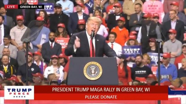 Donald Trump Jokingly Fires Sarah Huckabee Sanders At Wisconsin Rally