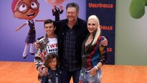 "Blake Shelton, Gwen Stefani ""UglyDolls"" Los Angeles Premiere Orange Carpet"