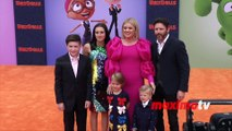 """Kelly Clarkson with her Family """"UglyDolls"""" Los Angeles Premiere Orange Carpet"""