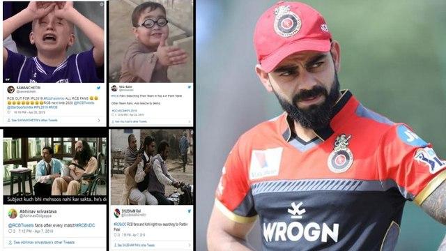 IPL 2019 : Most Hilarious Memes On Royal Challengers Bangalore V Delhi Capitals Match || Oneindia