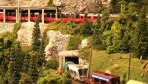 Trains miniatures de Suisse: Les Chemins de fer rhétiques (RhB) à voie métrique - Une vidéo de Pilentum Télévision sur le modélisme ferroviaire avec des trains miniatures