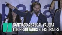 Santiago Abascal valora los resultados electorales de Vox