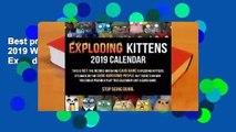 Best product  Exploding Kittens 2019 Wall Calendar - Exploding Kittens LLC