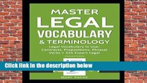 R.E.A.D Master Legal Vocabulary   Terminology- Legal Vocabulary In Use: Contracts, Prepositions,