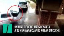 Un niño de ocho años salva a su hermana cuando robaban su coche