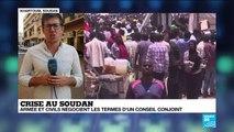 Crise au Soudan : armée et civils négocient les termes d'un conseil conjoint