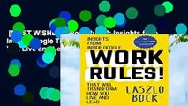 [MOST WISHED]  Work Rules!: Insights from Inside Google That Will Transform How You Live and Lead