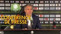 Conférence de presse FC Lorient - AJ Auxerre (2-2) : Mickaël LANDREAU (FCL) - Cédric DAURY (AJA) - 2018/2019