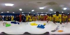 Vidéo 360° : la joie du vestiaire nantais à Marseille