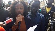 Messages racistes à l'Université de Lorraine - Houssainatou, l'une des victimes présumées, à la marche anti-racisme organisée à Metz