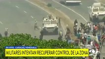 Tanqueta de la Guardia Nacional arrolla a un grupo de manifestantes en la Carlota