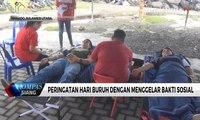 Peringati Hari Buruh dengan Senam Bersama dan Bakti Sosial