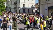 1er-Mai à Nancy : les gilets jaunes défilent en queue de cortège