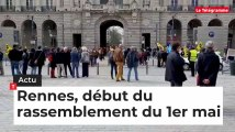 Rennes, début du rassemblement des manifestants pour le 1er mai