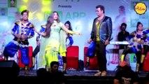 Sapna Chaudhary with Ravi Kishan, सपना चौधरी ने सिखाया रवि किशन को डांस