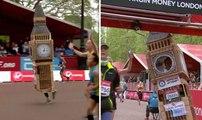 Marathon de Londres : Déguisé en Big Ben, il ne parvient pas à passer la ligne d'arrivée