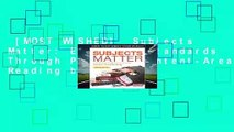 [MOST WISHED]  Subjects Matter: Exceeding Standards Through Powerful Content-Area Reading by