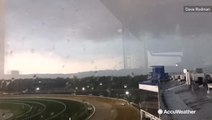 Cool timelapse shows storm galloping into horse track