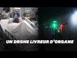 Des médecins tentent la livraison d'organes par drone aux États-Unis