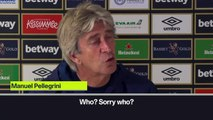 (Subtitled) 'Hasenhuttl who?' - Pellegrini appears to not know Southampton boss