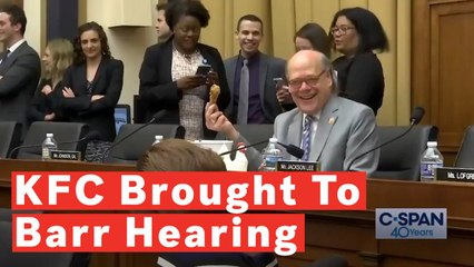 Representative Steve Cohen Brings KFC To Barr Hearing