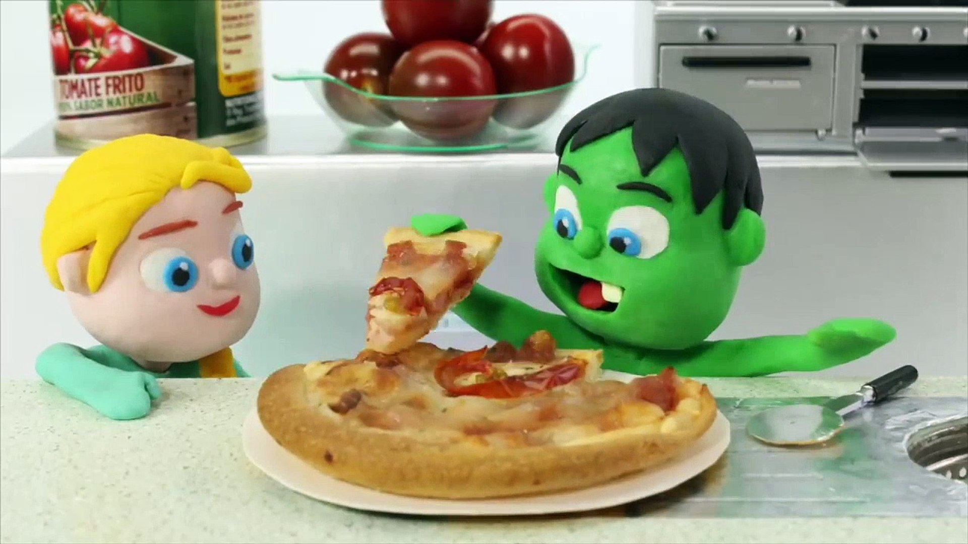 KIDS COOKING PIZZA  PLAY DOH CARTOONS FOR KIDS