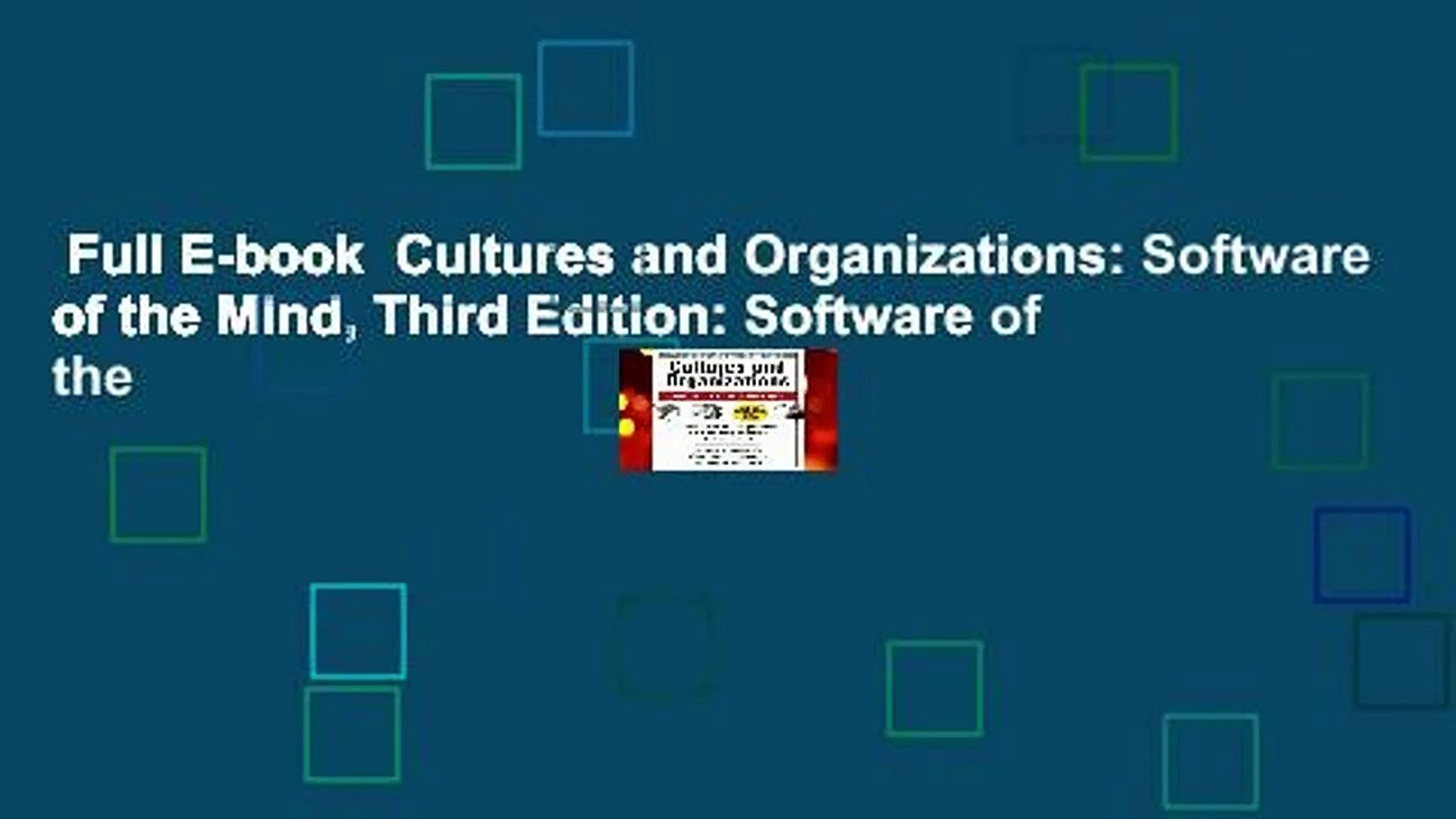 Full E-book  Cultures and Organizations: Software of the Mind, Third Edition: Software of the