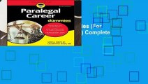Paralegal Career For Dummies (For Dummies (Career/Education)) Complete