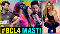 Bharti Singh & Rakhi Sawant CRAZY Masti At BCL4   Full Video
