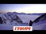 Nicolas Piguet et Romain Grojean rident sur une mer de nuages aux Arcs - Adrénaline - Ski freeride