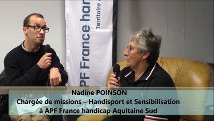 Entretien avec Nadine POINSON Chargée de missions à APF France handicap Aquitaine Sud