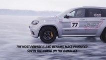Automobile : Jeep Grand Cherokee bat un record de vitesse sur glace au Lac Baikal