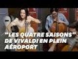 L'orchestre de Genève a profité du retard de son avion pour lancer un concert improvisé