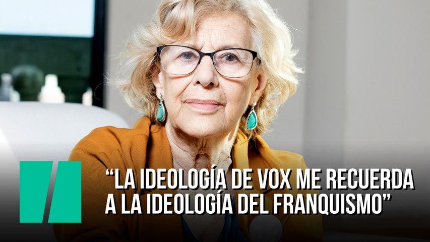 """Manuela Carmena: """"La ideología de VOX me recuerda a la ideología del franquismo"""""""