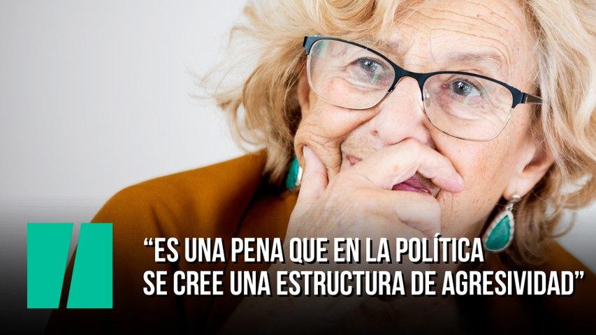 """Manuela Carmena: """"Es una pena que en la política se cree una estructura de agresividad"""""""
