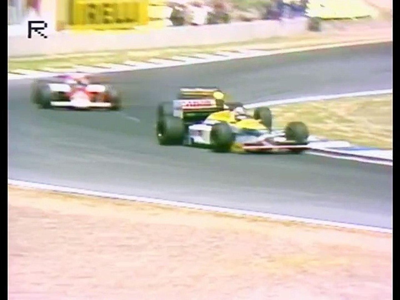 1986 Jerez Senna v Mansell