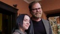 Billie Eilish Quizzed On 'The Office' Trivia by Rainn Wilson   Billboard News