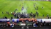 Vidéo. Les supporters du FC Sochaux envahissent le terrain au terme d'une soirée noire