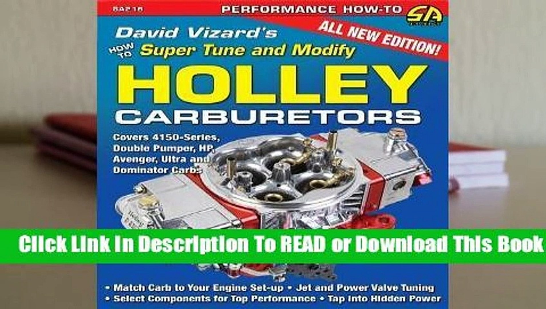 Full E-book David Vizard's How to Super Tune and Modify Holley Carburetors  For Trial