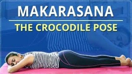 Learn How To Do The Crocodile / Makrasana Pose | Simple Yoga For Beginners | Mind Body Soul