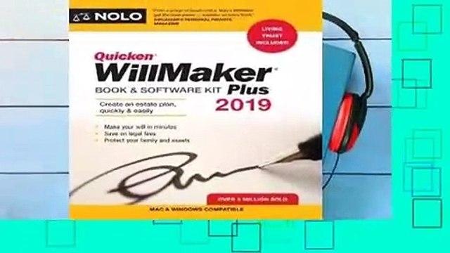 Full version  Quicken Willmaker Plus 2019 Edition: Book & Software Kit Complete