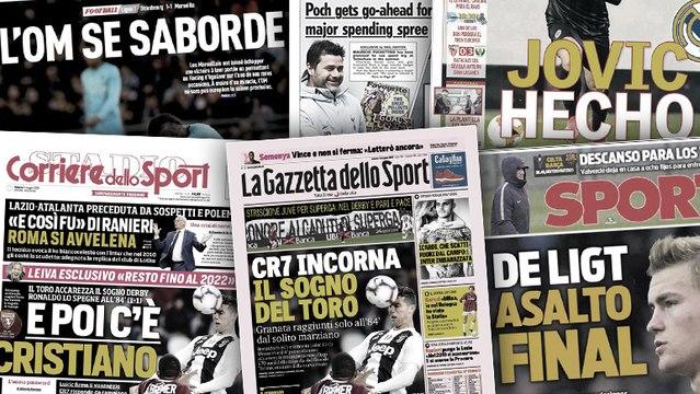 Le Barça lance l'assaut final pour De Ligt, la presse italienne s'enflamme encore pour CR7
