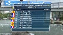 Championnat de France Elite Slalom 2019   Course 4 - Finale B - K1 homme