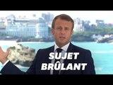 """Macron veut que le G7 soit une réponse à """"l'appel de l'océan et de la forêt qui brûle"""""""