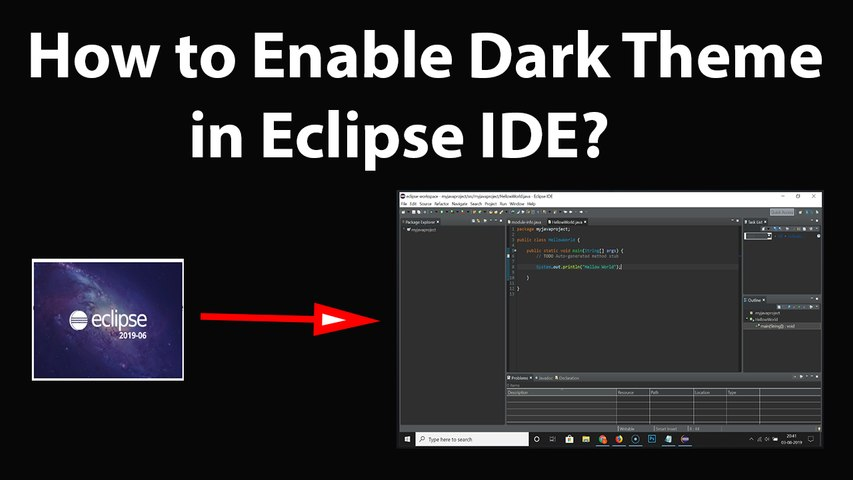 How to Enable Dark Theme in Eclipse IDE?