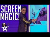 Magician Does Amazing Screen Magic With His Girlfriend At Home- - Magicians Got Talent