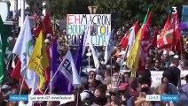 """Anti-G7 : la manifestation à Hendaye réunit """"gilets jaunes"""" et altermondialistes"""
